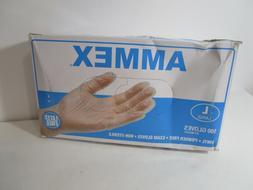 AMMEX - Medical Vinyl Gloves - Disposable, Powder Free, Late