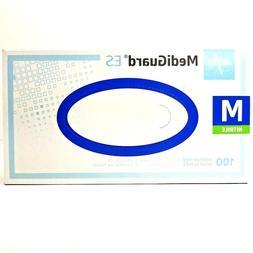 Medline MEDIGUARD ES NITRILE EXAM GLOVES M Blue 100 Count Ne