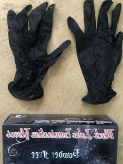 Medium Black Latex Disposable Gloves 100 per Box Skintx Powd