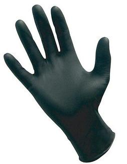 BLACK Nitrile MEDIUM Powder-Free Gloves - FULL CASE of 1000