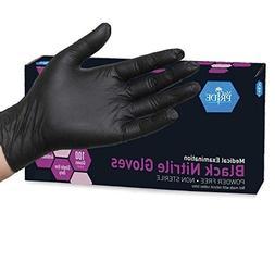 MedPride Black Nitrile Powder Free Exam Gloves, Large, Case/