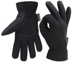 Men Winter -20°F Cold Proof Thermal Gloves, Deerskin Leathe