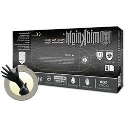 Microflex MIDKNIGHT Saftey Nitrile Powder-Free Exam Gloves T
