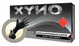 Micro Flex N64-M Onyx- Medium Black Nitrile Gloves
