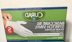 NEW 100/Bx Curad Disposable Gloves Powder Free, Soft, Flexib