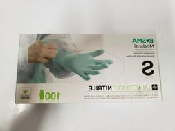 New, Aloetouch Medline Nitrile Gloves, Small,  Count 100 - 1