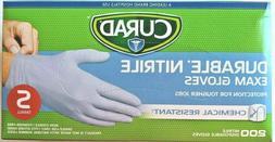 *NEW* CURAD Anti-Virus Durble Nitrile Exam Glove 200 Ct Mult