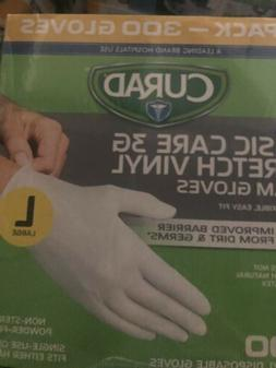 NEW Curad Basic Care 3G Stretch Vinyl Exam Gloves