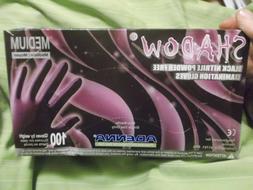 New Box of 100 Adenna Shadow Black 6 MIL Nitrile Exam Gloves