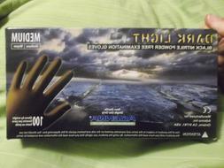 New Box of 100 Adenna Dark Light Black 9 MIL Nitrile Exam Gl