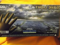 New Box of 100 Adenna Dark Light Black 9 MIL Thick Nitrile E