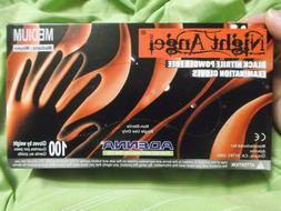 New Box of 100 Adenna Night Angel Black Nitrile Exam Gloves-