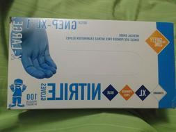New Box of 100 Blue 5 MIL Nitrile Powder/Latex Free Exam Gra
