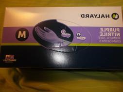 New Box of 100 Purple Nitrile Halyard Exam Gloves Powder/Lat