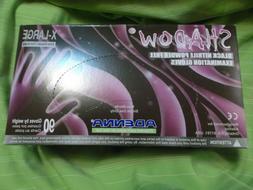 New Box of 90 Adenna Shadow Black 6 MIL Nitrile Exam Gloves-