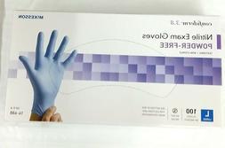 New Unopened Large Blue 3.8 Nitrile Gloves 100 Pcs Powder Fr