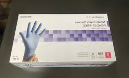 New Unopened Small Blue 3.8 Nitrile Gloves 100 Pcs Powder Fr