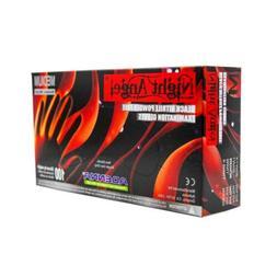 ADENNA NIGHT ANGEL NITRILE EXAM GLOVES BLACK EXTRA-LARGE  XL