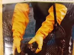 "Atlas 772 Extra Large Nitrile Chemical Resistant Gloves, 25"""