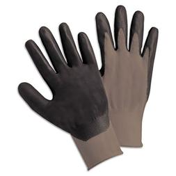 Anchor Brand Nitrile Coated Gloves, Gray/Dark Gray, Large -