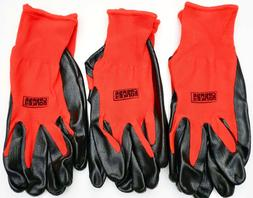 Grease Monkey Nitrile Coated Work Gloves Latex-Free Size Lar