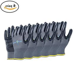 Golden Scute Nitrile Coated Work Gloves, Breathable Shell, S