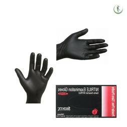 Nitrile Black Disposable Examination Gloves Powder-Free Dent