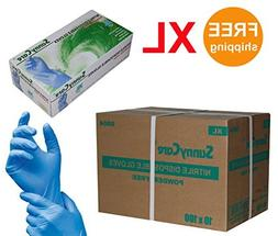Sunnycare #8804 Nitrile Disposable Gloves Powder Free Size: