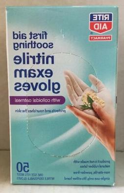Rite Aid Nitrile Exam Glove with Oatmeal, 50 ct One Size Fit