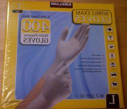 Kirkland Nitrile Exam Gloves 400 Large Multi Purpose Latex F