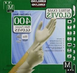 Kirkland Signature Nitrile Exam Gloves 400ct - Medium