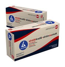 Dynarex Black Nitrile Exam Gloves  Powder Free XL, Black 10/