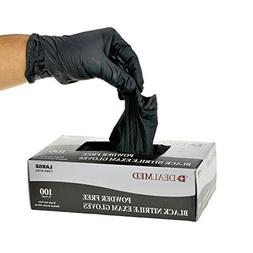 Nitrile Exam Gloves, Black, Medium, 100/Bx