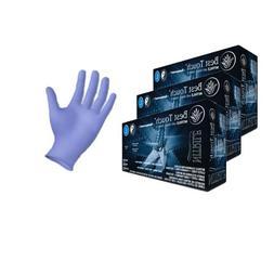 Nitrile Exam Gloves with Aloe and Vitamin E, Powder Free, Be