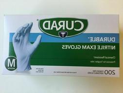 Curad Durable Nitrile Exam Gloves 200 Gloves. size Medium