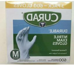 Curad Nitrile Exam Gloves Medium 3 Boxes - 600 Count