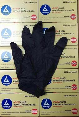 Dynarex Nitrile Exam Gloves Medium Black Powder Free NEW 1 b