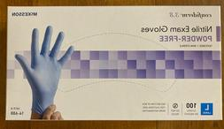 ✔McKesson Nitrile Exam Gloves Powder-Free Size L 100 ct. C