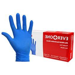 EverOne Nitrile Exam Gloves Powder Free Non Latex, Blue, Lar