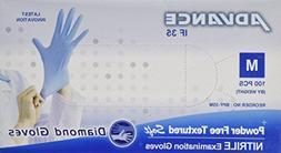Nitrile Examination Powder Free Gloves , Blue,Box of 100