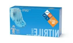 Nitrile Gloves - 100 Count -Latex and Power Free - Blue Colo