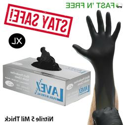 Nitrile Gloves 100 pcs Black  X Large Size 5 Mil Thick