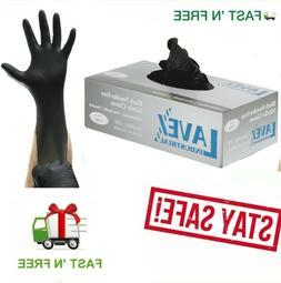 Nitrile Gloves 100 pcs Black  Large Size 5 Mil Thick