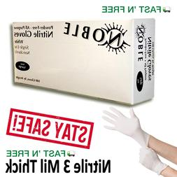 Nitrile Gloves 100 pcs  Large Size Noble 3 Mil Thick