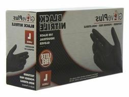 GlovePlus Nitrile Gloves Powder Free Black, 1000 pack  . Ful