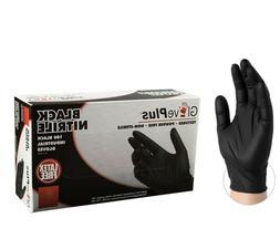 Nitrile Gloves Powder Free Black,  same day shipping