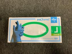 Nitrile gloves powder free Size Large 150 ct Medline Sensi c