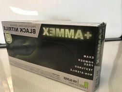 NITRILE GLOVES Powder free Textured Box of 100 SM/MED/LG/XL,