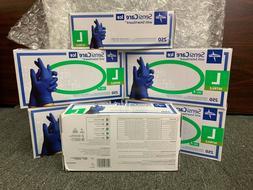 Nitrile gloves Size Large powder free 250 ct Medline Sensi c
