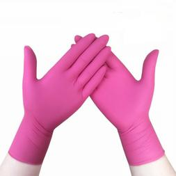Nitrile Latex Pink Gloves Household Cleaning Gloves Househol